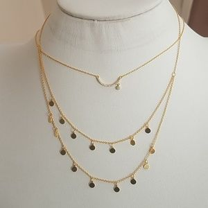 Gold plated moon star Necklace 18 inches